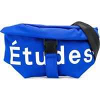 Etudes Pochete Com Estampa De Logo - Azul