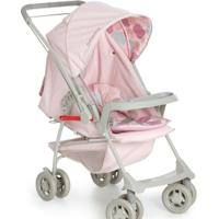 Carrinho De Bebê Para Passeio 2 Em 1 Berço Galzerano Milano Reversível - Feminino