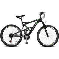 Bicicleta Kyklos Aro 26 Caballu 7.8 Suspensáo Full Baixa A-36 21V Preto/Verde - Tricae