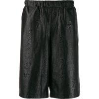 Comme Des Garçons Homme Plus Textured Track Shorts - Preto