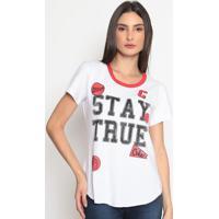"Blusa ""Stay True""- Branca & Vermelha- Coca-Colacoca-Cola"