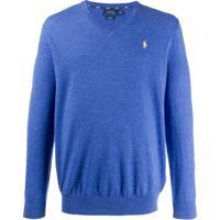 Polo Ralph Lauren Suéter Gola V - Azul