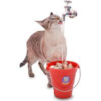 Bebedouro Torneira Fonte Para Gato Magicat Vermelho 220V Catmypet