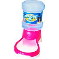 Bebedouro Automático Para Cães E Gatos Truqys Pets Rosa 2 Litros