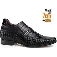 Sapato Social Couro Rafarillo Masculino Tresse Dia A Dia Preto