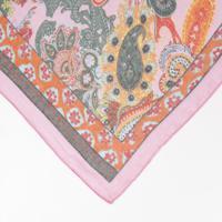 Echarpe Abstrata - Rosa & Verde- 92X194Cm - Kwikwi
