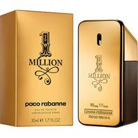 Perfume Masculino One Million Paco Rabanne Eau De Toilette 30Ml - Masculino-Incolor