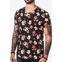 Camiseta Hibiscus Preta 103171