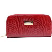 25b1be50d Carteira Texturizada Em Couro Com Tag - Vermelha- 9Xjavali