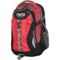 Mochila Cargueira Nord Outdoor Hiking - 25 Litros - Vermelho/Preto