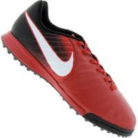 Chuteira Society Nike Tiempo X Ligera Iv Tf - Infantil - Vermelho/Preto