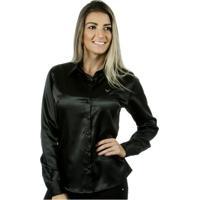 Camisa Pimenta Rosada Inâe - Feminino-Preto