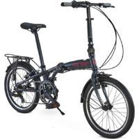 "Bicicleta Dobrável Aro 20"" Durban Shimano Preto"