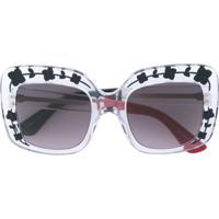 Gucci Eyewear Óculos De Sol Oversize - Branco