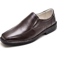 Sapato Casual Conforto Carmelo Shoes Couro Masculino - Masculino-Café