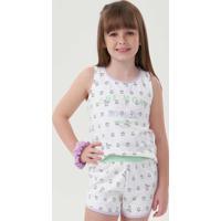Pijama Infantil Relógios 67483 Cor Com Amor