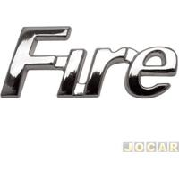 """Letreiro - Alternativo - Palio/Weekend 2001 Até 2003 - """"Fire"""" - Cromado - Cada (Unidade)"""
