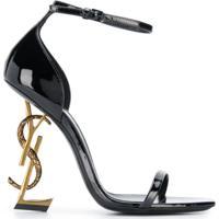 Saint Laurent Opyum Ankle Strap Sandals - Preto