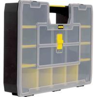 Caixa Organizadora Softmaster Com 17 Divisórias Preta E Amarela