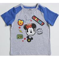 Camiseta Infantil Estampa Mickey Manga Curta Disney