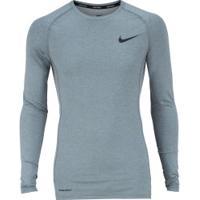 Camisa De Compressão Manga Longa Nike Pro Top Ls Tight - Masculina - Cinza/Preto