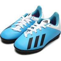 Chuteira Adidas Menino X 19 4 Tf Jr Azul