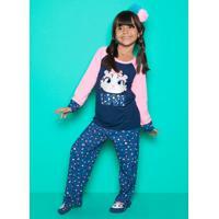 Pijama Manga Longa Visco Oncinha Kids 1