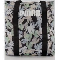 Bolsa Puma Wmn Shopper Floral Preta