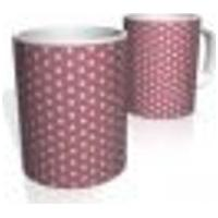 Caneca De Porcelana Nerderia E Lojaria Rosa Bolinhas Brancas 8 Colorido