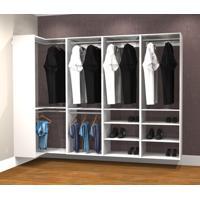 Conjunto Completo Para Closet 43 Branco - Getama Moveis