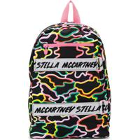 Stella Mccartney Kids Mochila Com Estampa Camuflada - Preto
