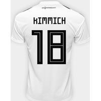 Netshoes  Camisa Seleção Alemanha Home 2018 N° 18 Kimmich - Torcedor Adidas  Masculina - Masculino aec5e7e49479c
