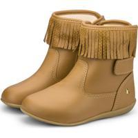 Bota Infantil Bibi Camel Com Franja Rainbow 1089026 27