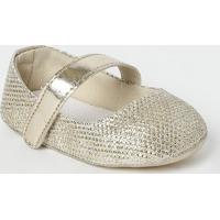 Sapato Boneca Com Fios Metalizado - Dourado - Ticco Tico Baby