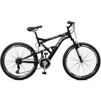 Bicicleta Master Bike Aro 26 Masculina Totem Suspensão Full Baixa A-36 21 Marchas Preto