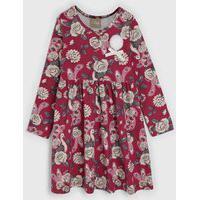 Vestido Milon Infantil Floral Rosa/Bege