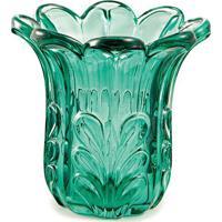 Vaso Em Relevo- Verde Escuro- 11Xã˜11Cm- Martmart