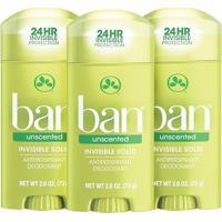 Ban Kit Desodorante Antitranspirante Sólido 73G Trio - Unscented
