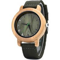 Relógio Madeira Dododeer-A23 Verde