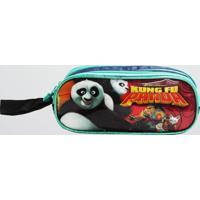 Estojo Kung Fu Panda Infantil Com 2 Compartimentos Clio Azul (Sortido, Único)