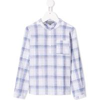 Bonpoint Camisa Com Gola Mandarim - Branco