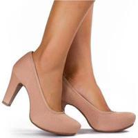 f1fedf20e ... Sapato Scarpin Dakota Meia Pata Malha Feminino - Feminino-Nude