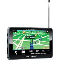 Navegador Gps Multilaser Tracker Iii Tela 7Pol Tv Digital Transmissor Fm - Gp038 - Unissex