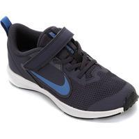 Tênis Infantil Nike Downshifter 9 Velcro Psv - Unissex-Azul+Preto