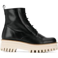 Paloma Barceló Flatform Lace-Up Ankle Boots - Preto