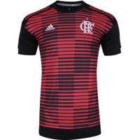 Camisa Pré-Jogo Do Flamengo 2018 Longline Adidas - Masculina -  Vermelho Preto 2cc95955f9664