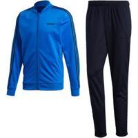 Agasalho Com As Três Listras Adidas - Masculino-Azul