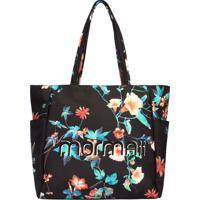 Shopping Bag Mormaii Esportiva Em Nylon Floral - 44712 - Preta