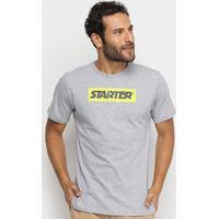 Camiseta Starter Box Logo Masculina - Masculino-Cinza Claro
