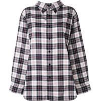 Balenciaga Camisa Xadrez - Preto